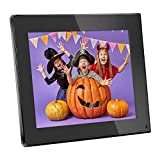 Digital Photo Frame 8 Inch Digital Picture Frame 1024x768(4:3) High Resolution LCD Screen Music Video Player/Alarm/Calendar with Remote Controler Black(M03)