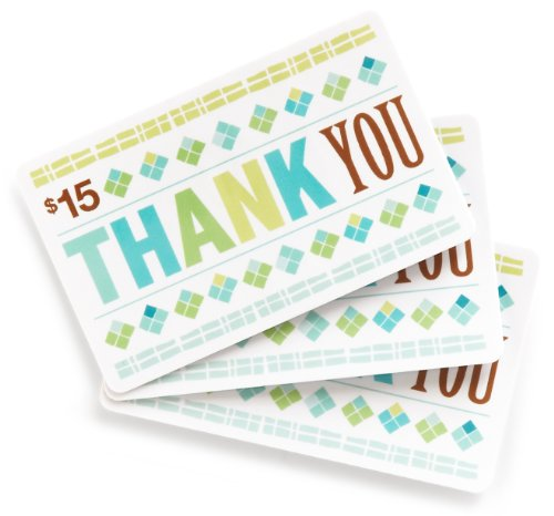 Amazon.com $15 Gift Cards, Pack of 3 (Thank You Card Design)