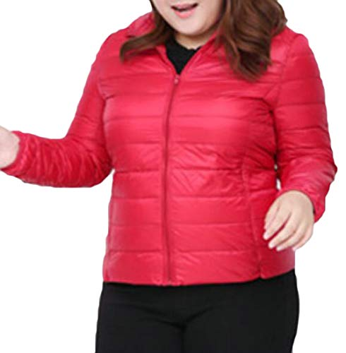 Size Red Packable Jacket Short Down Packable Women MU2M Light Hooded Plus Outwear Weight EIa76wq