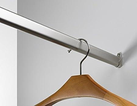 Kleiderstange 130 cm schrankrohr 30 x 15 mm hochwertige