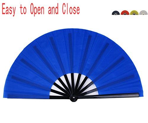 (Folding Fan Chinese Hand Fan Performance Fan HONSHEN Nylon-Cloth Fan 13 inch)