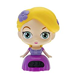 BulbBotz Disney Princess 2020886 Rapunzel Kids Light up Alarm Clock | Purple/Yellow | Plastic | 7.5 inches Tall | LCD Display | boy Girl | Official