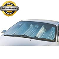 Max Reflector Premium Double Bubble Auto Car Truck Suv Sunshade Jumbo - Reflective Aluminum Coating for Maximum Protection - Lifetime Warranty