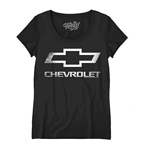 Women's Chevrolet Logo Scoop Tee - X-Large  Black