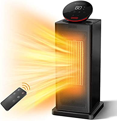 Amazon Com Alrocket Space Heater 1500w Ptc Heater With Eco Thermostat Tower Heater Oscillating Electric Heater With Remote Control 24h Timer Led Display Overheat Tip Over Protection Fast Heat For Home Office Home