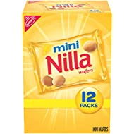 Nilla Wafers Mini Vanilla Wafer Cookies, 12 Snack Packs