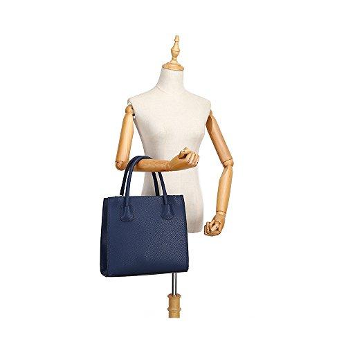 LeahWard Groß Damen Tragetaschen nett Groß Marke Handtaschen Handgepäck Kabine Gym Reise Arbeit Tasche Zum Damen CW61 (BRÄUNEN) Dunkelblau