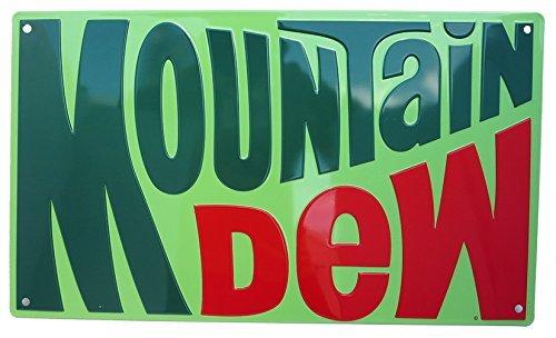 Mountain Dew 1970's Logo Tin Sign 17 x 10in ()