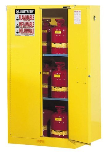 Justrite 896020 Sure-Grip EX Flammable Safety Cabinet, 2 Door, Self Closing, Dimensions (H x W x D): 65 x 34 x 34 inch (1651 x 864 x 864 mm); 60 gal. (227L)
