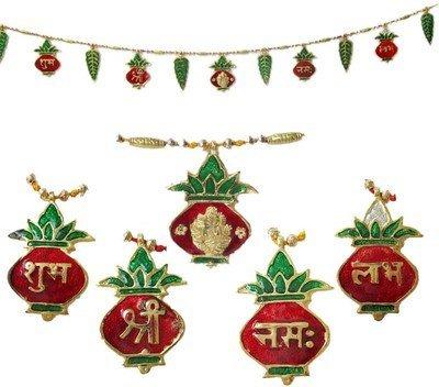 Ganpati Shubh Labh Bandanwar Door Hanging Toran 33 Inches Approx