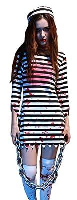 Mumentfienlis Womens Prisoner Costume for Halloween Zombie Costume