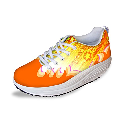 6 Women's Slimming Pattern Color Swing Shoes Platform ThiKin Colorful xOB0E