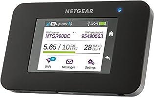 Netgear - AC790-100EUS - Router móvil con pantalla táctil (WiFi 2,4 GHz /5 GHz, Hotspot, AirCard 3G/4G), negro