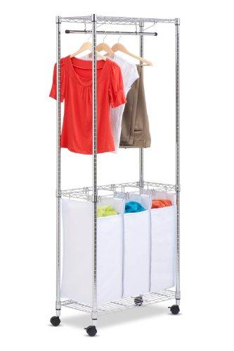 Honey Can Do SRT 01154 Rolling Laundry Triple Sorter