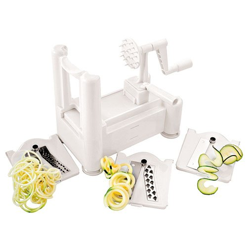 Paderno World Cuisine Tri-Blade and 4-Blade Spiral Vegetable Slicer