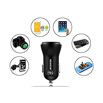 Car Charger QC3.0, 3.6V-12V 30W Output Dual USB Port, for iPhone iPhone Xs/XS Max/XR/X/8/8 Plus/7/7 Plus/iPad Pro/Air2/Mini - Galaxy S10e/ S10/ S10+/ S9 / S9+ /Note 8 / S8 / S8+ and More