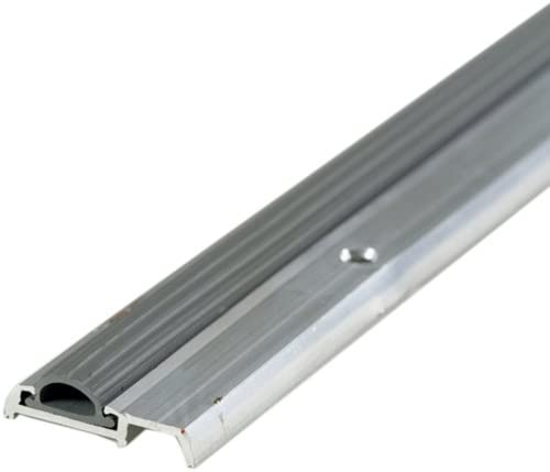M-D Building Products 8243 M-D 0 Low Mini Heavy Duty Threshold with Replaceable Vinyl Insert x 1-3//8 W x 7//16 H Aluminum 36 in L X 1-3//8 in W