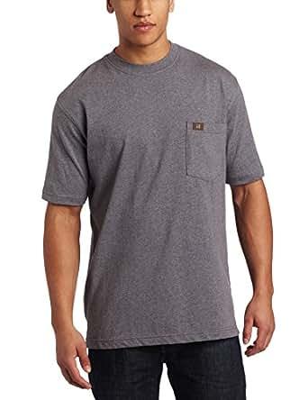 RIGGS WORKWEAR by Wrangler Men's Pocket T-Shirt, Charcoal Gray, Medium