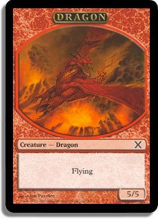 (Magic: the Gathering - Dragon Token (3/6) - Tenth Edition)