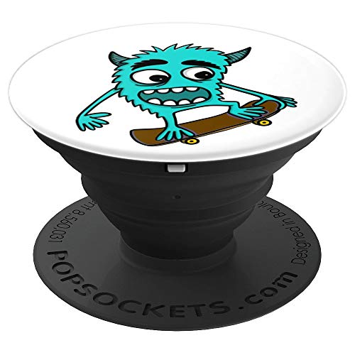 Skateboarding Monster Skateboard Collapsible Pop Out Mount - PopSockets Grip and Stand for Phones and Tablets