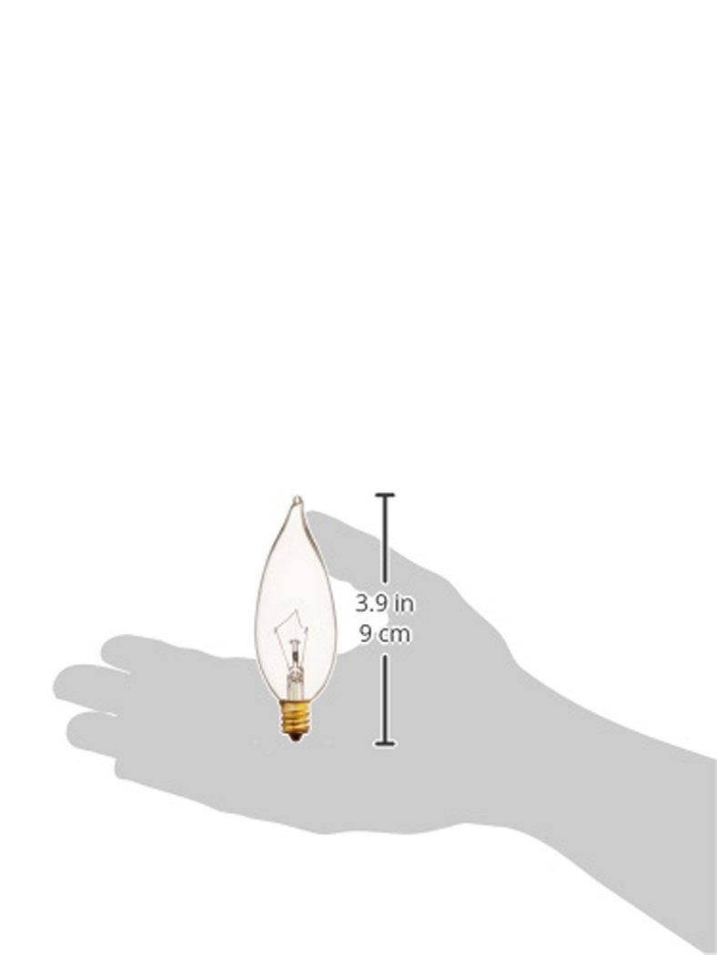 Triangle Bulbs T20479-15 60CF//CL 60W Candelabra Flame Tip 130V Clear E12 Base Incandescent Light Bulb 15 Pack