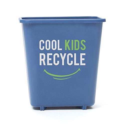 Mindable Cool Kids Recycling Bin, Small Indoor Kitchen or Classroom, 2 Gallons, from 100% Recycled Plastic (Room Recycling Bin)