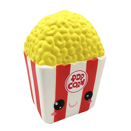 (Squishy Toys Slow Rising Cute Popcorn Cream Squeeze Toys Stress Relief Squishy Jumbo Kawaii Squishies for Boys Girls Adults Kids,Lovely Toy Cell Phone Straps Key Chains Decompression)