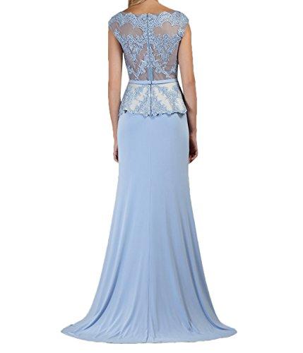 La_Marie Braut Glamour Himmel Blau Spitze Brautmutterkleider Ballkleider Partykleider Schmaler Schnitt Lang LsuBzO2t