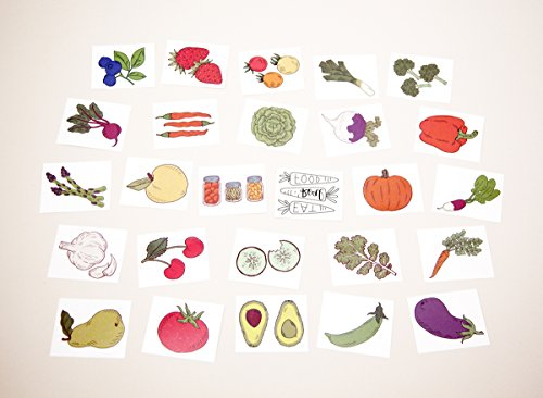 Tater Tats Pop-Up Tattoo Parlor: 100 Temporary Vegetable Tattoos by Tater Tats (Image #5)