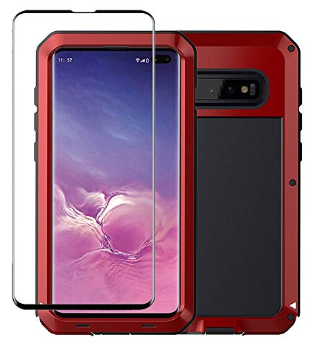 (Galaxy S10 Case, Military Grade Drop Tested, Anodized Aluminum, Heavy Duty, Full-Body Dual Layer Rugged, TPU and Metal Protective Case for Samsung Galaxy S10)