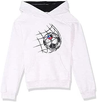 Bella Cotton BCW130 Kangaroo-Pocket Ribbed-Trim Football-Print Hoodie for Boys