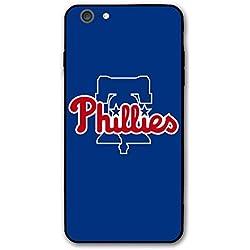 HiFee iPhone 6s Plus Case iPhone 6 Plus Case Baseball Team Design Slim and Lightweight Cover Cases (Phillies-Blue)