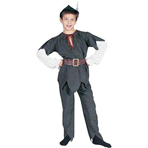 [Child's Peter Pan or Robinhood Halloween Costume (Size: Medium 8-10)] (Child Deluxe Peter Pan Costumes)