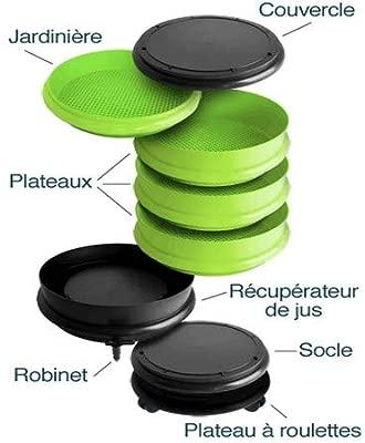 WormBox : Vermicompostador 4 bandejas Negro - 64 litros