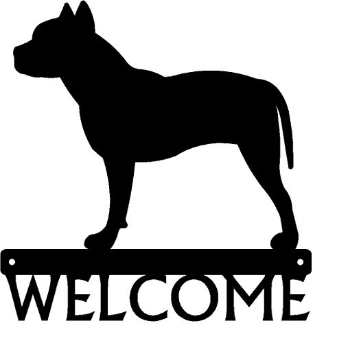 The Metal Peddler Dog Welcome Sign Pit Bull Terrier
