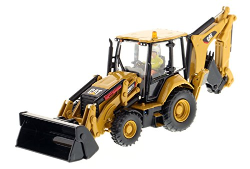 Caterpillar 420F2 IT Backhoe Loader, Yellow - Diecast Masters 85233 - 1/50 Scale Diecast Model Toy Car