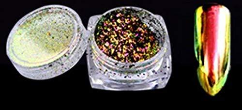 (1 Pcs Holographic Mirror Chrome Pigment Nail Art Diamond Important Popular Nails Crystal Stones Sticker Decals Brush Design Blue Colored Tips Polish Women Tools Unicorn Decor, Type-03 )