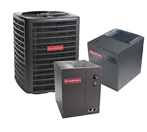 Goodman 3.5 Ton 16 SEER Air Conditioner GSX160421, Coil CAPF4961D6, Upflow, Downflow Modular Blower MBVC2000AA-1