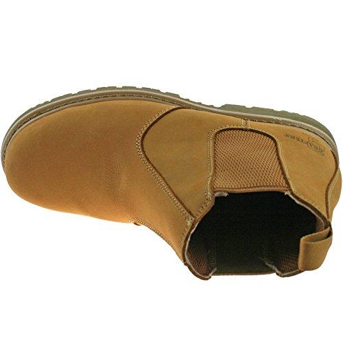 Grafters - Calzado de protección de cuero para mujer PENDING Beige - ocre