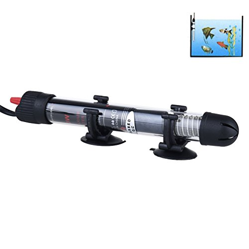 FONLAM Submersible Aquarium Heater Fish Tank Heater Adjustable Fresh and Salt Water Heater, Explosion-Proof and Shatter-Proof (25W(110V))