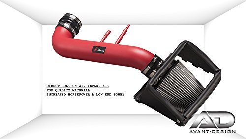 - COLD AIR INTAKE KIT RED 2015-2017 FOR FORD F150 5.0L 5.0 XL XLT V8