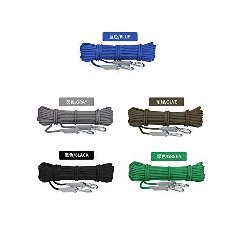 劣る申し込む煙突8ミリメートル/9.5ミリメートル直径無作為使用ホームローププロフェッショナルクライミングエイドロープラペリングアブセリングロープアウトドア8KN / 12KNエスケープ高抵抗ロープ (色 : Army Green, サイズ : Diameter 8 mm/30M)