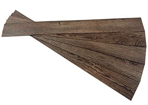 ROSEROSA Peel and Stick Engineered PVC Plank Wood Pattern Durable Vinyl Flooring (ECK-802 : 5 Planks) (Best Wood Flooring For Restaurants)