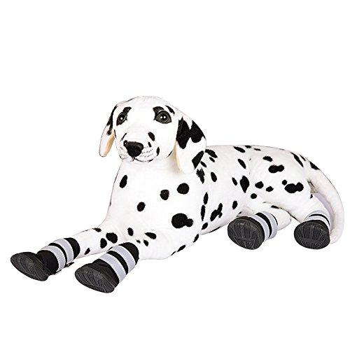 Ecloud Shop® Zapatos del perro mascota 4 PCS zapatos impermeables Botas impermeables para perros resistente al desgaste zapatos para perros