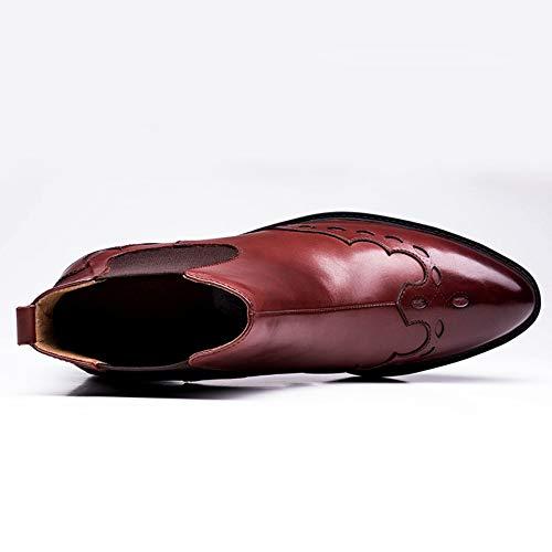 Martin Martin Martin Oxblood Stivali Scamosciata Brogue in in in in Boots Uomo Autunno Classic in Stivaletti Safety Pelle Pelle Red Inverno Stivali Chelsea E Pelle UCZIx6x
