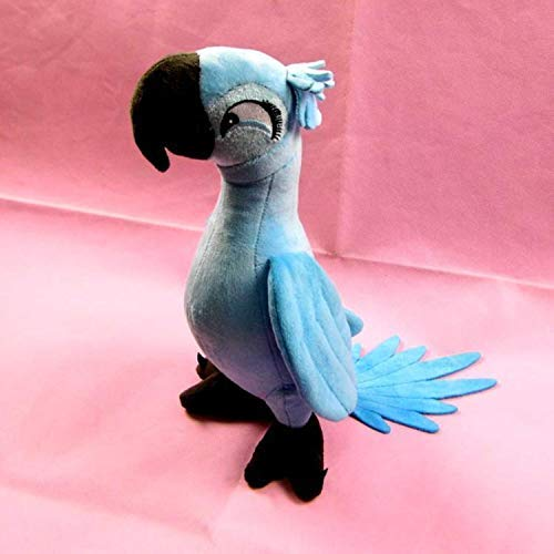 PAPWELL Rio 2 Cartoon Movie Big Plush Bird Toy Blue Cotton 11.8 Inch Original Soft Stuffed Parrot Animal Christmas Birthday Gift for Kids (2) (Jewel 2 Rio Toys)