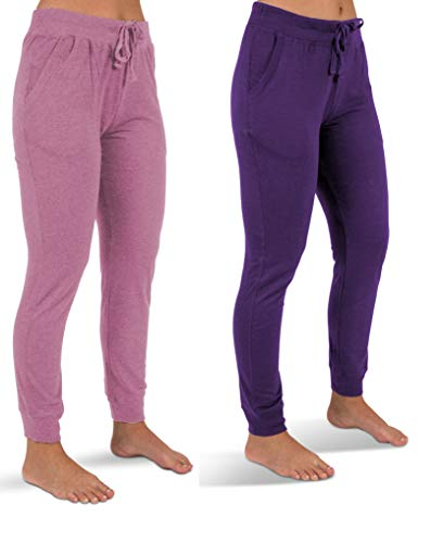 0b581f49f5 icyzone Womens French Terry Jogger Lounge Sweatpants - Active Capri Pants  for Women