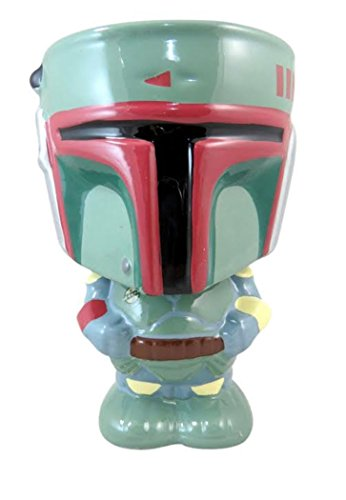Star Wars Episode VII the Force Awakens Bounty Hunter Boba Fett Ceramic Goblet, 10 Ounce ()