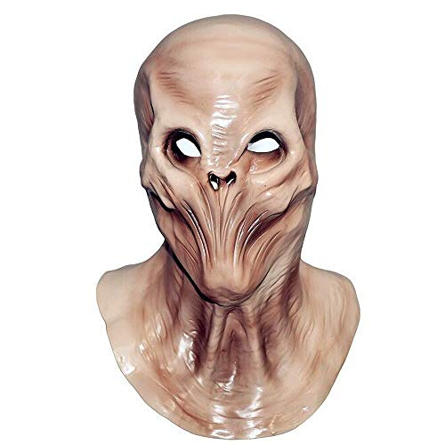 COMLZD Alien Head Latex Mask Novelty UFO Outer Space Creature Cosplay Costume Party Full Head -
