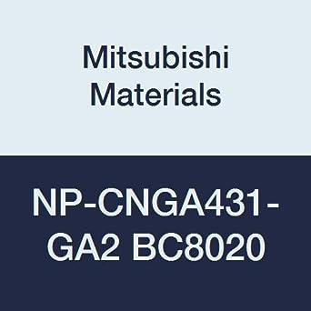 Mitsubishi Materials NP-CNGA431-GA2 BC8020 inserto de giro negativo CBN tipo CN revestido
